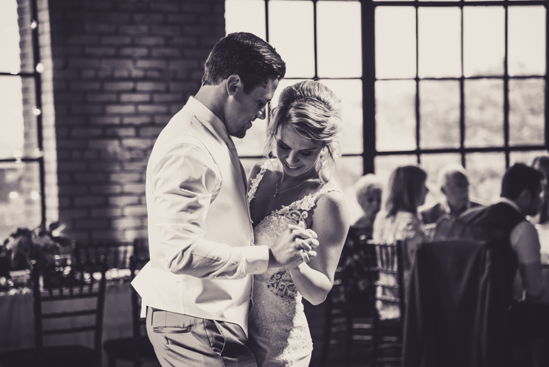 image of a bride and grooms first dance at reception