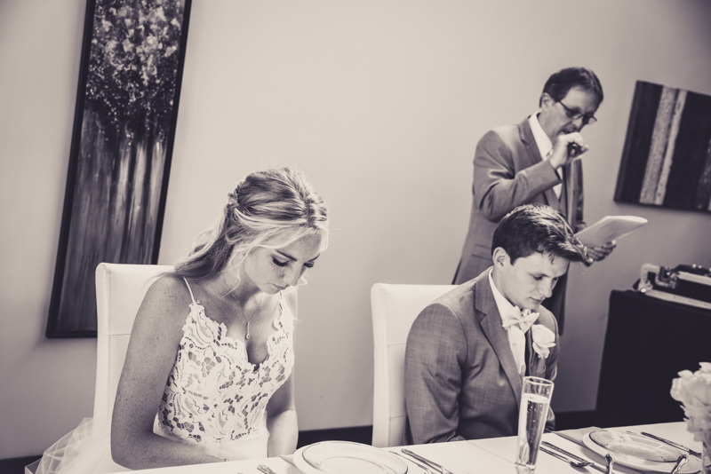 prayers during a wedding reception