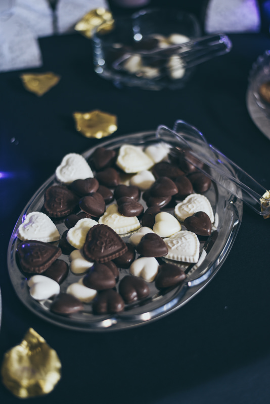 white and milk chocolate heart candies