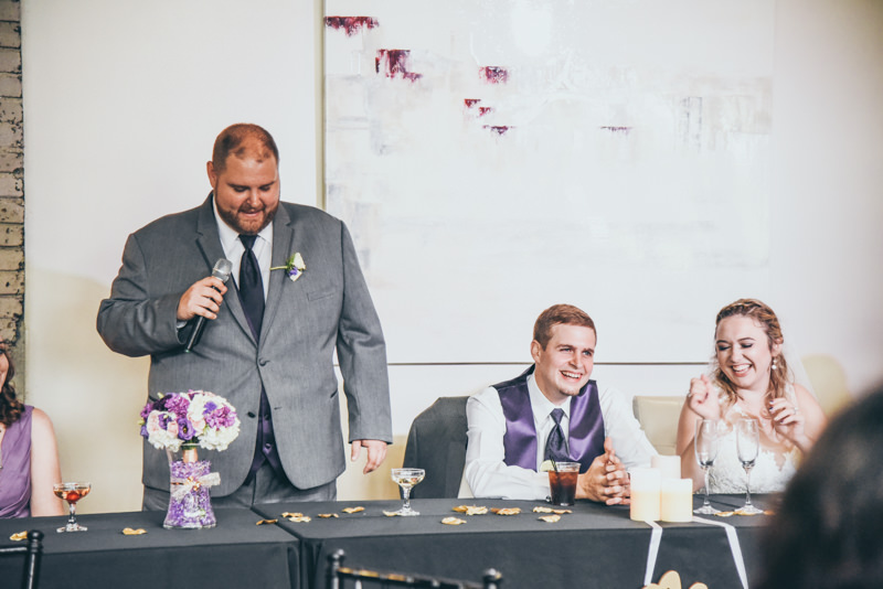 best man speech during wedding reception