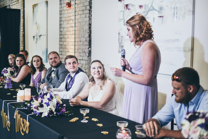 maid of honor speech during wedding reception