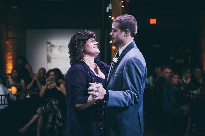 mother son dance in a loft venue