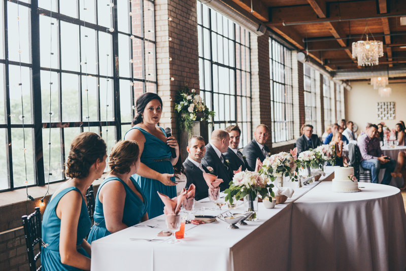 speeches and toasts at a reception