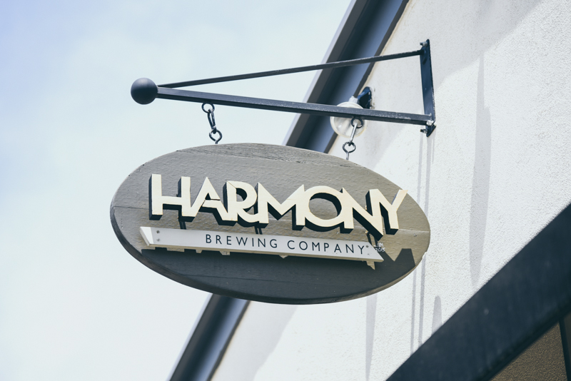 harmony brewing company sign