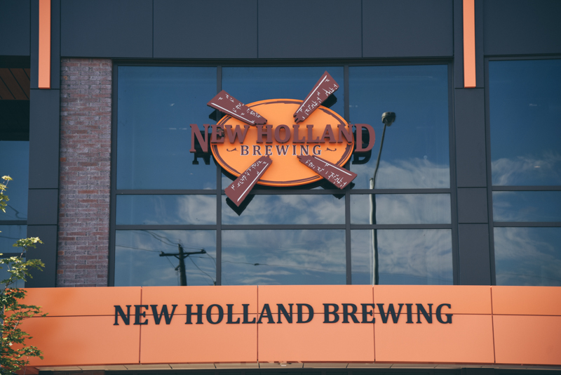 new holland brewing company sign