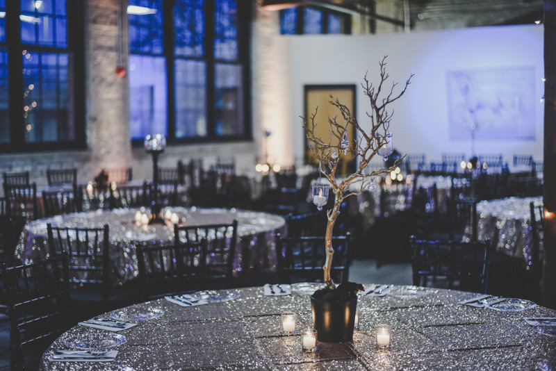 golden branch wedding centerpieces