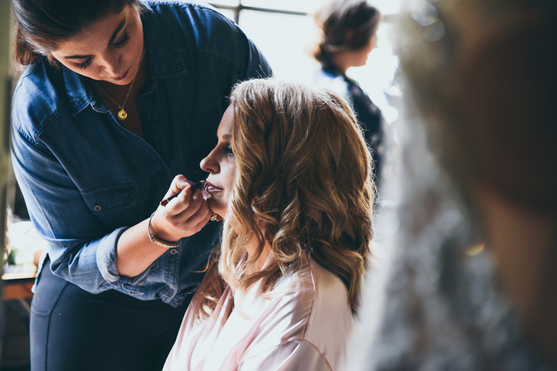 image of a bride getting ready